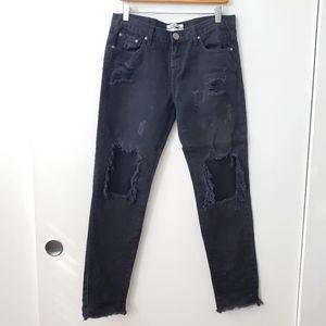 One teaspoon black distressed jeans